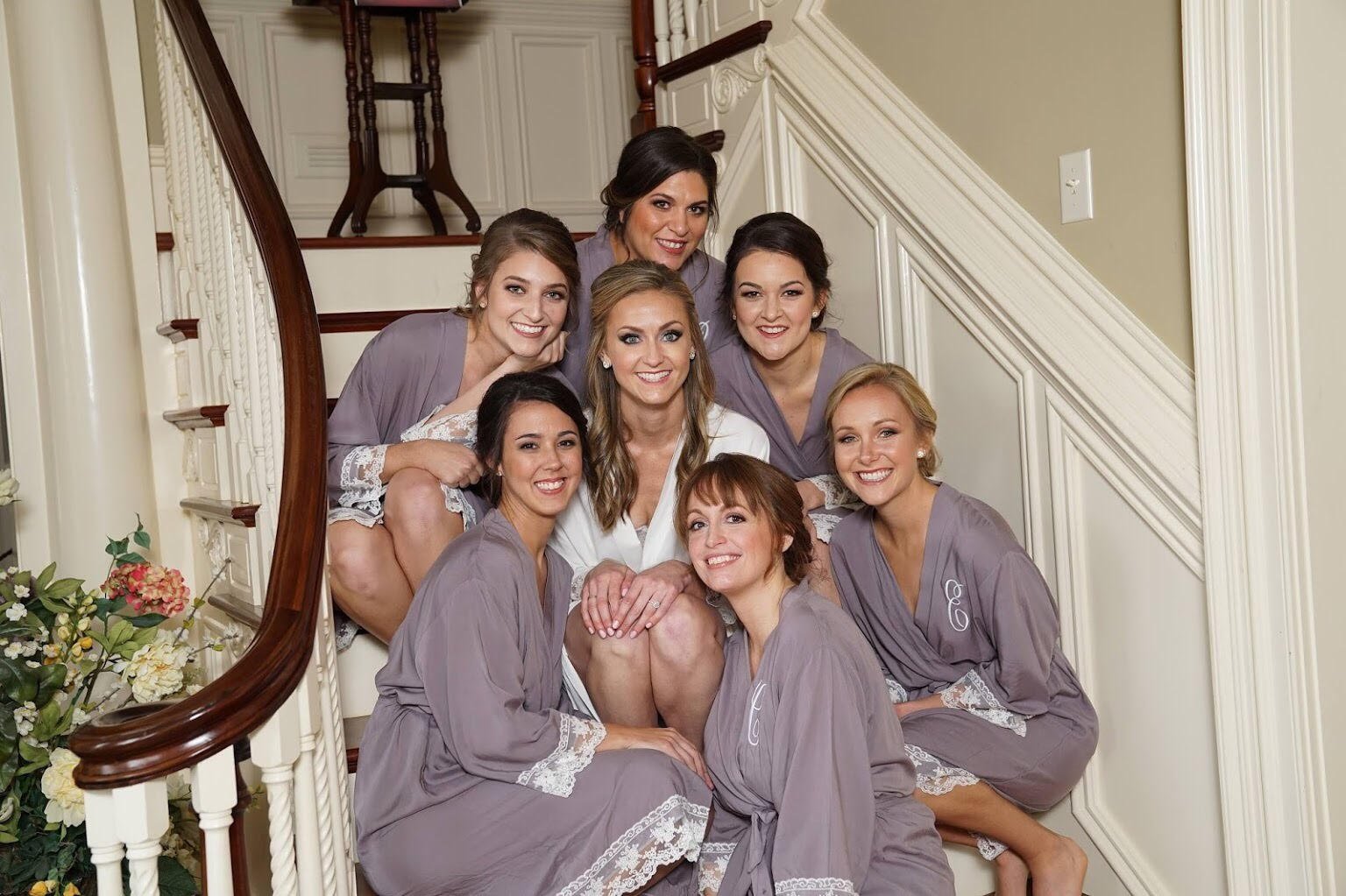 Heidi with her bridesmaids